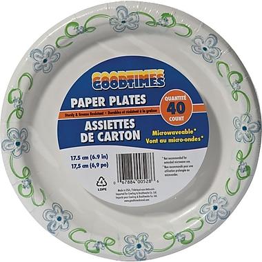 Goodtimes - Assiette imprimée, 7 po