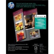 HP® - Papier photo pour dépliants, prêt à plier en 3, 8 1/2 po x 11 po, lustré