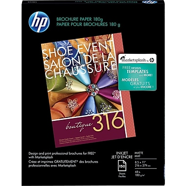 HP® Brochure & Flyer Paper, 8 1/2