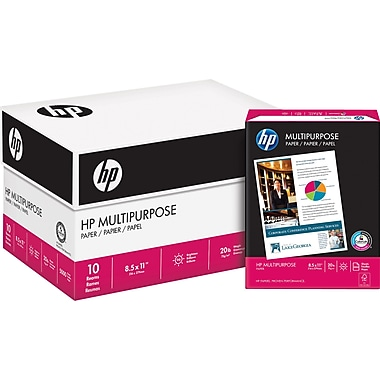 HP® FSC-Certified Multipurpose Paper, 20 lb., 8-1/2
