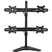 "PLANAR 997-5602-00 Quad Stands for 15 - 24"" Monitors, Black"