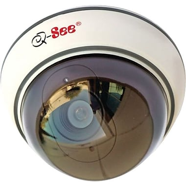 Q-See QSM30D Wired Non Operational Decoy Dome Camera, White