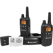Midland X-tra Talk LXT600VP3 Two-Way Radios, Black, 2/Pack