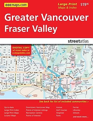 MapArt Vancouver Area Street Guide Staples