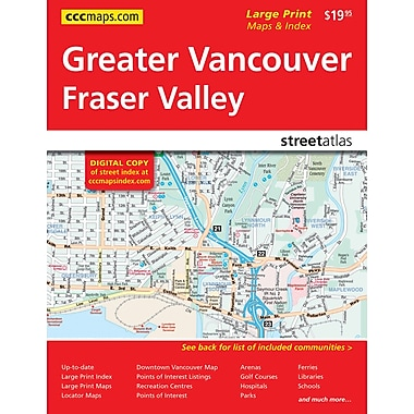 MapArt Vancouver & Area Street Guide