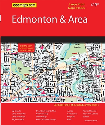 MapArt Edmonton Northern Alberta Street Guide Staples