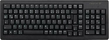 CHERRY® Black 88/89 Keys USB Or (2) PS/2 G84-5000 Ultraslim XS Trackball Keyboard