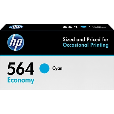 HP 564 Cyan Economy Ink Cartridge (B3B12AN)