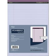 """Cambridge Perforated Pads, 8-1/2"""" x 11-3/4"""", Wide-Ruled, Orchid, 3/Pack"""