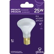 Incandescent Flood R12 Intermediate Base Light Bulb, 25W, Frosted