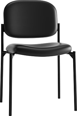 HON Scatter Stacking Guest Chair, Black SofThread Leather NEXT2018 NEXT2Day