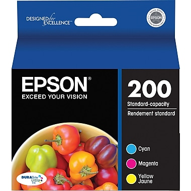 Epson 200 Color C/M/Y Ink Cartridges (T200520-S), Combo 3/Pack