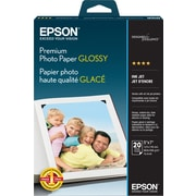 "Epson® Premium Photo Paper, 5"" x 7"", Glossy, 20/Pack"
