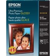 Epson® – Papier photo Ultra de haute qualité, glacé, 8 1/2 po x 11 po, paq.