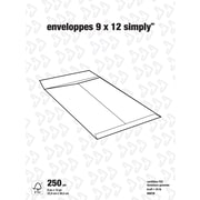 Simply – Enveloppes kraft pour catalogues, 9 po x 12 po, bte/250, avec colle