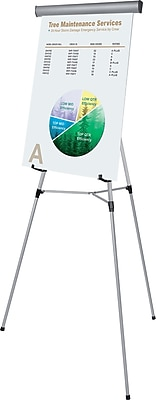 MasterVision® 3-Leg Heavy-Duty Telescoping Display Easel, Silver