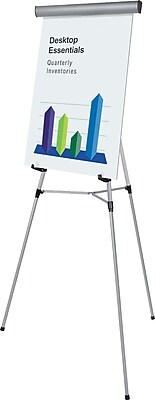 MasterVision® 3-Leg Lightweight Telescoping Display Easel, Silver
