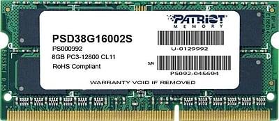 Patriot Signature 8GB (1 x 8GB) DDR3 (204-Pin SO-DIMM) DDR3 1600 (PC3 12800) Universal Laptop Memory