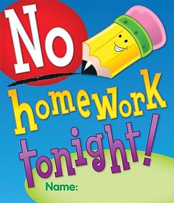 Carson-Dellosa No Homework Tonight Certificate, 24/Pack