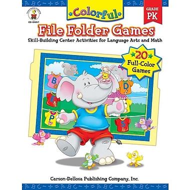 Carson-Dellosa Colorful File Folder Games, Grade PK