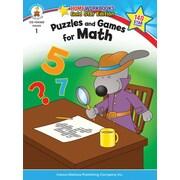 Carson-Dellosa Puzzles and Games for Math Resource Book, Grade 1