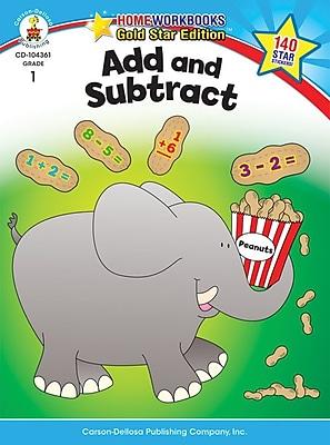 Carson-Dellosa Add and Subtract Resource Book, Grade 1