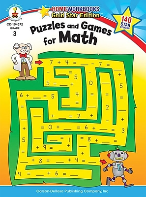 Carson-Dellosa Puzzles and Games for Math Resource Book, Grade 3