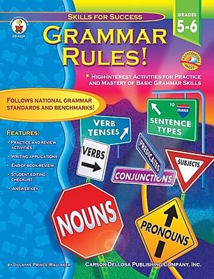 Carson-Dellosa Grammar Rules! Resource Book, Grades 5 - 6
