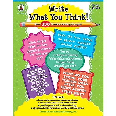 Carson-Dellosa Write What You Think! Resource Book