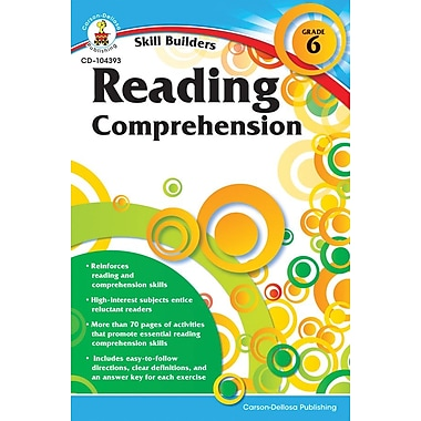 Carson-Dellosa Reading Comprehension Resource Book, Grade 6