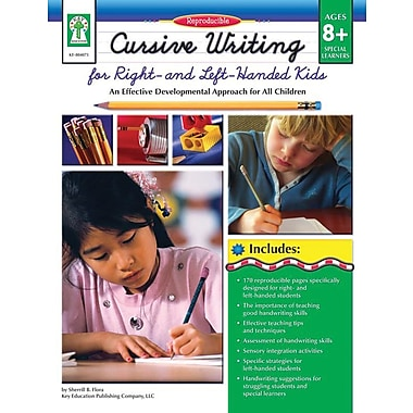 Carson-Dellosa Key Education Cursive Writing for Right- & Left- Handed Kids Resource Book (804073)