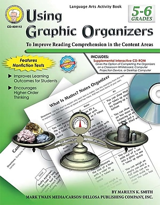 Mark Twain Using Graphic Organizers Resource Book, Grades 5 - 6