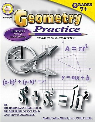 Mark Twain Geometry Practice Book Resource Book
