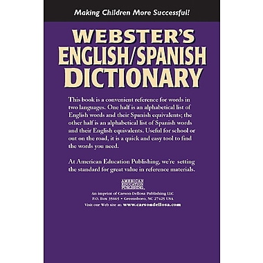 Webster's 769615902 English/Spanish Dictionary
