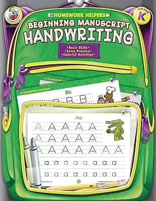 Frank Schaffer Beginning Manuscript Handwriting Workbook