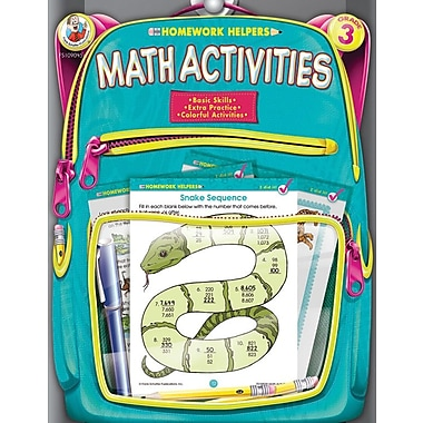 Frank Schaffer Math Activities Workbook, Grade 3