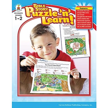 Carson-Dellosa Bible Story Puzzle 'n' Learn! Resource Book, Grade 1-2 (204070)