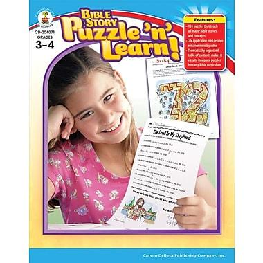 Carson-Dellosa Bible Story Puzzle 'n' Learn! Resource Book, Grades 3 - 4