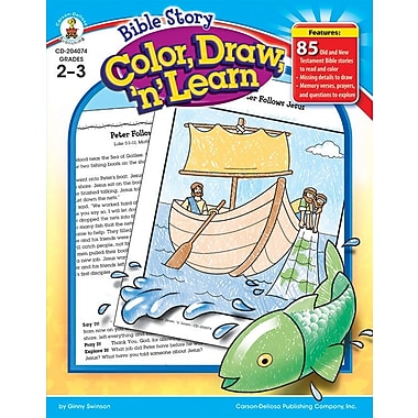 Carson-Dellosa Bible Story Color, Draw, 'n' Learn! Resource Book (204074)