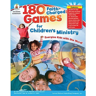 Carson-Dellosa 180 Faith-Charged Games for Children's Ministry Resource Book