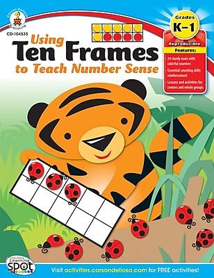 Carson-Dellosa Using Ten Frames to Teach Number Sense Resource Book