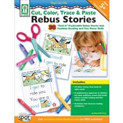Key Education Cut, Color, Trace, & Paste Rebus Stories Resource Book