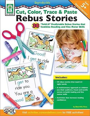 Key Education Cut, Color, Trace, & Paste Rebus Stories Resource Book
