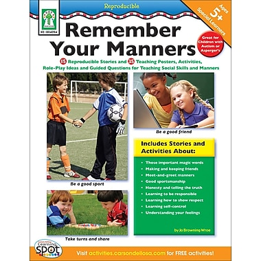 Carson-Dellosa Key Education Remember Your Manners Resource Book (804094)