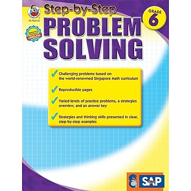 Frank Schaffer Step-by-Step Problem Solving Resource Book, Grade 6