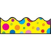 """Carson-Dellosa Publishing 1246 3' x 2.25"""" Scalloped Colorful Dots Borders, Multicolor"""