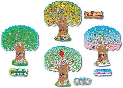 Carson-Dellosa Four Seasons Trees Bulletin Board Set