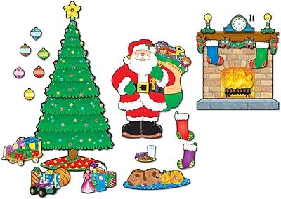 Carson-Dellosa Christmas Scene Bulletin Board Set