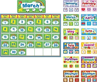 Carson-Dellosa Complete Calendar Kit Bulletin Board Set