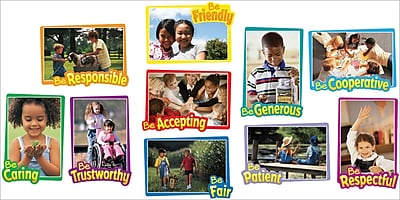 Carson-Dellosa First-Rate Character Traits Bulletin Board Set
